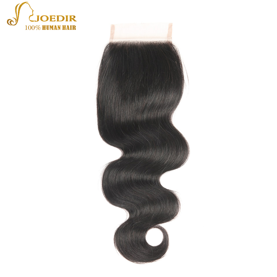 JOEDIR Hair Brazilian Body Wave Lace Closure 4x4 Fria / Mellersta / - Barbershop - Foto 1