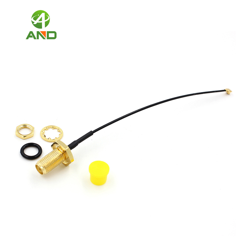 100pcs lot IP66 waterproof SMA female adapter RF1 13 cable with IPEX RF jumper With O