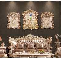 Amerykański żywicy luksusowe tłoczone dekoracyjne malarstwo ścienne wiszące rzemiosła restauracja salon naklejki ścienne ścienne ozdoby wystrój