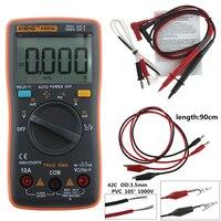 AN8002 Dijital Multimetre 6000 sayımlar Arka AC/DC Ampermetre Voltmetre Ohm Taşınabilir Metre gerilim metre test hattı El