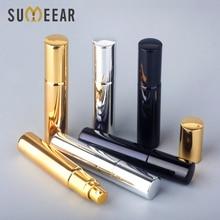 Bouteille de parfum rechargeable en verre UV Portable, 10ML, 100 pièces/lot, vaporisateur, atomiseur en aluminium