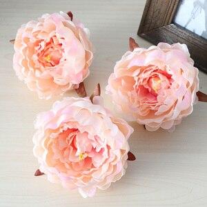 Image 4 - 50 sztuk sztuczne kwiaty głowy hortensja piwonia kwiat głowy jedwab sztuczny ściana kwiatów na ślub tło dekoracji ściany