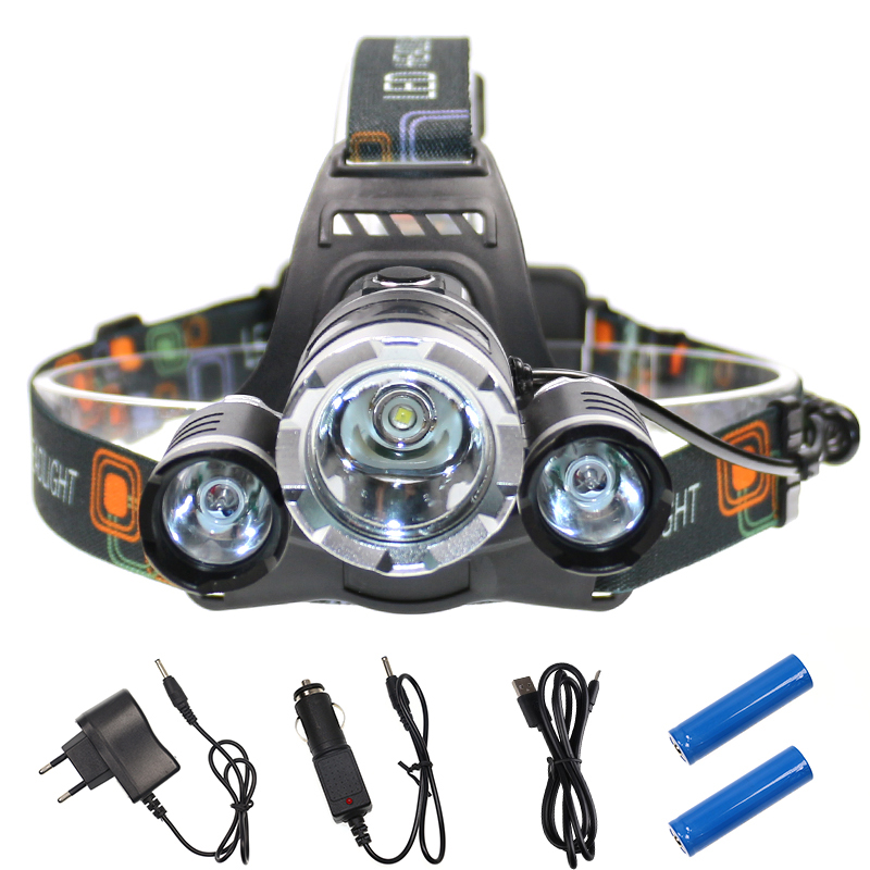 8000 Lumens 10w CREE LED Headlamp T6+2Q5 Bulb Rechargeable Super Power Head Torch for Hu ...