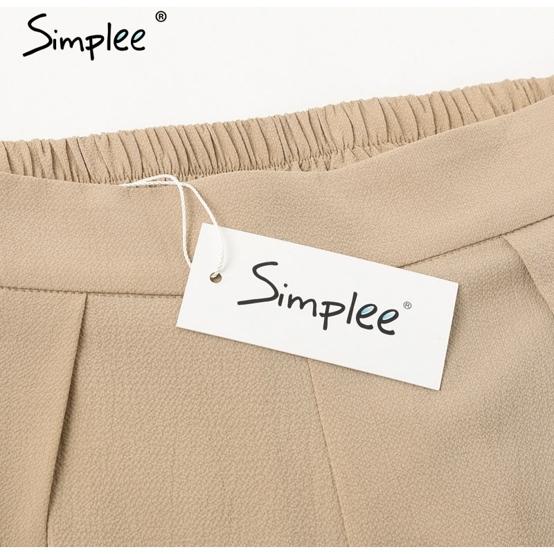 Simplee Elegant women summer pants Wide leg elastic high waist split trousers Casual streetwear fashion female palazzo pants 8