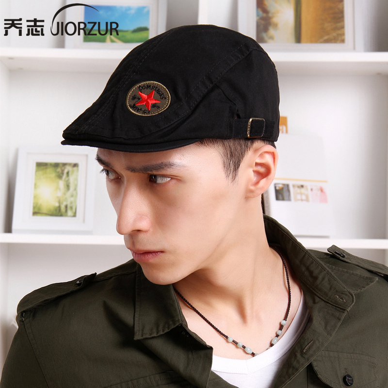 2016 Time-limited Real Geometric Adult Summer Autumn Outdoor Korean Male Hat  Beret Cap Forward For Peaked Painter Camouflage 5934d174682