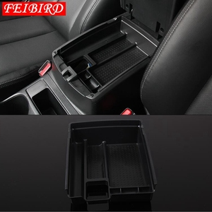 Image 4 - For Nissan X Trail X Trail T32 Rogue 2014   2019 Black Central Console Multifunction Storage Box Phone Tray Accessory