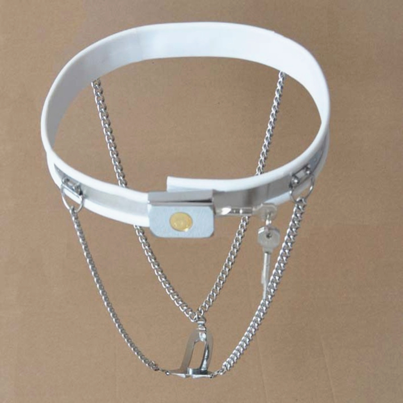 Invisible Chastity Belt Double Y-type Device Metal Pant Female Chastity Chain Prevent Masturbation Shield Adult Sex Toys G7-5-28