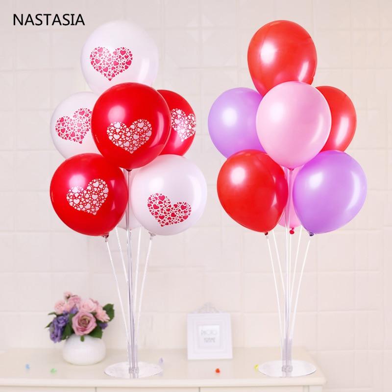 NASTASIA wedding decoration latex balloons table floating the balloon supporting rod Balloon holder and latex balloon.