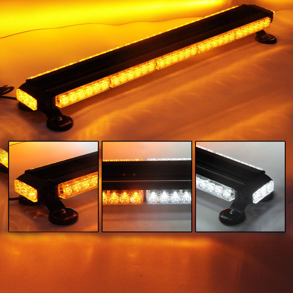 66LED 32 Car Emergency Security Warning Flash Strobe Light Tractor Agricultural AVT Offroad LED Lights Bar Amber Red White Blue led strip headlights front lamps fit for toyota corolla altis 2014 2015 2016 head lamps with turn signal lamps