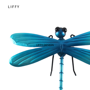 Image 5 - Metal Dragonfly Fairy Wall Decoration for Garden Decoration Outdoor Accessories Sculpture in Miniature Garden Statues