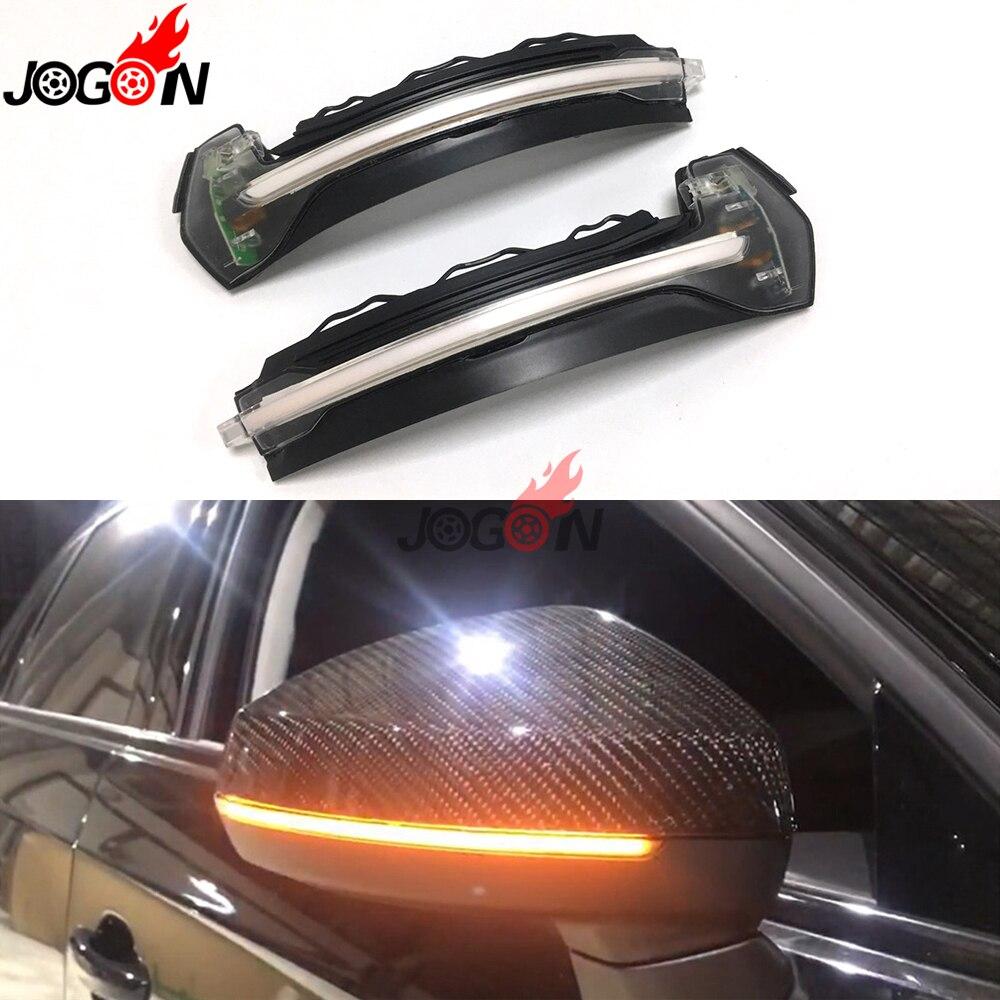 White LED Dynamic Turn Signal Light For Audi A3 S3 8V 2013-2018 Car Accessories Side Rearview Mirror Indicator Blinker Repeater Указатель поворота