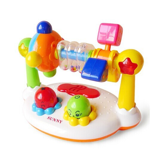 Baby musical toys cartoon music kingdom Rattle Ring Bell Multifunctional toy Appease  kid Toy