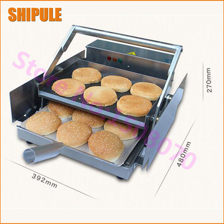 SHIPULE China Bakery equipment commercial package double grilled hamburger machine burger maker board bun toaster price Тостер