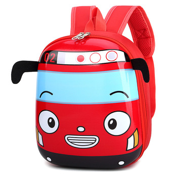 Cute Bus School Bag Backpack for Kids Children in 4 Colors