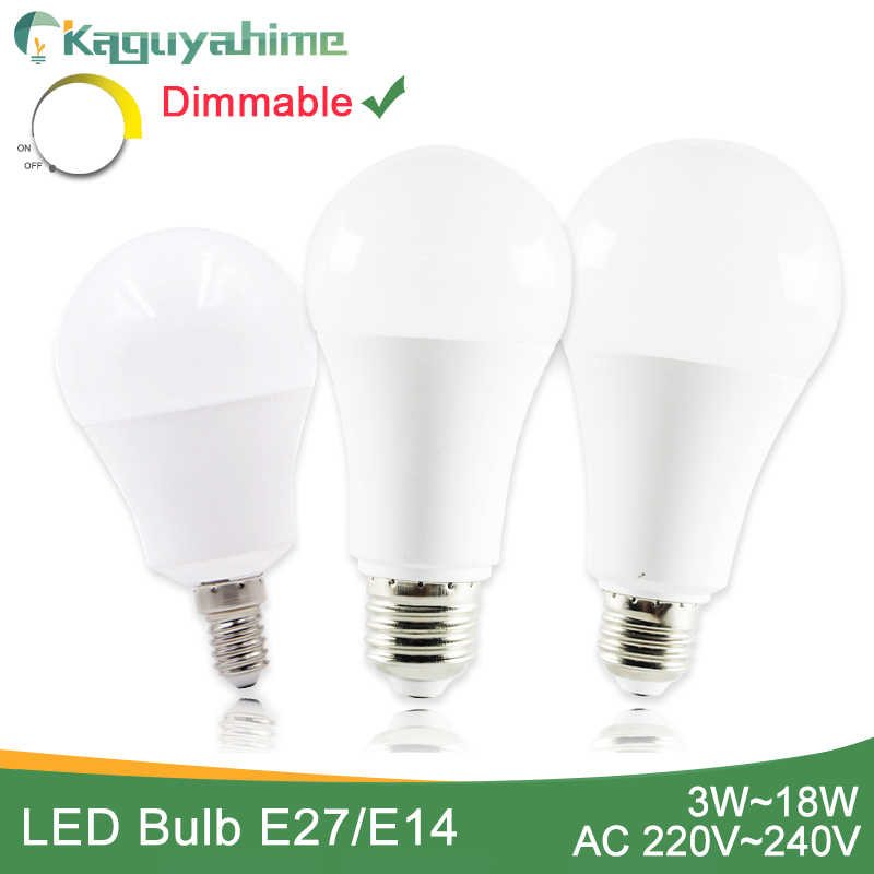 Kaguyahime High Power E14 E27 LED Bulb Dimmable LED Lamp 220V Ultra Bright Light 3W 5W 6W 9W 12W 15W 20W Bombillas Lampadas LED