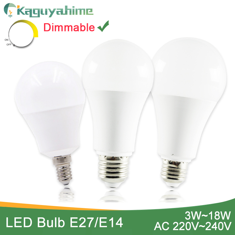 Kaguyahime High Power E14 E27 LED Bulb Dimmable LED Lamp 220V Ultra Bright Light 3W 5W 6W 9W 12W 15W 20W Bombillas Lampadas LED