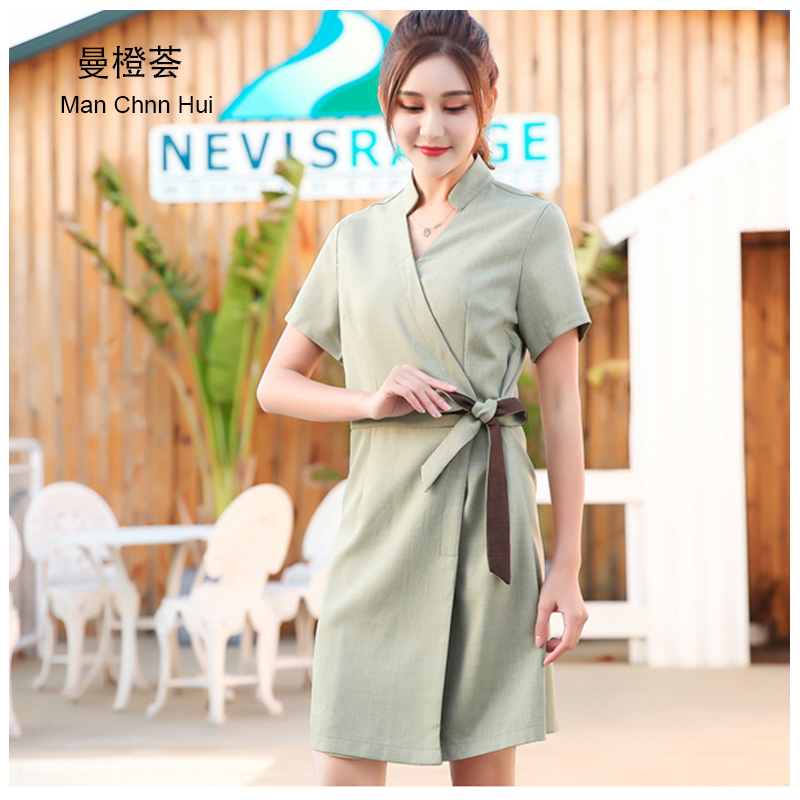 Beautician clothing Summer Latest Design SPA Clothing Beauty Salon Work Uniforms Hospital V Neck Short Sleeve