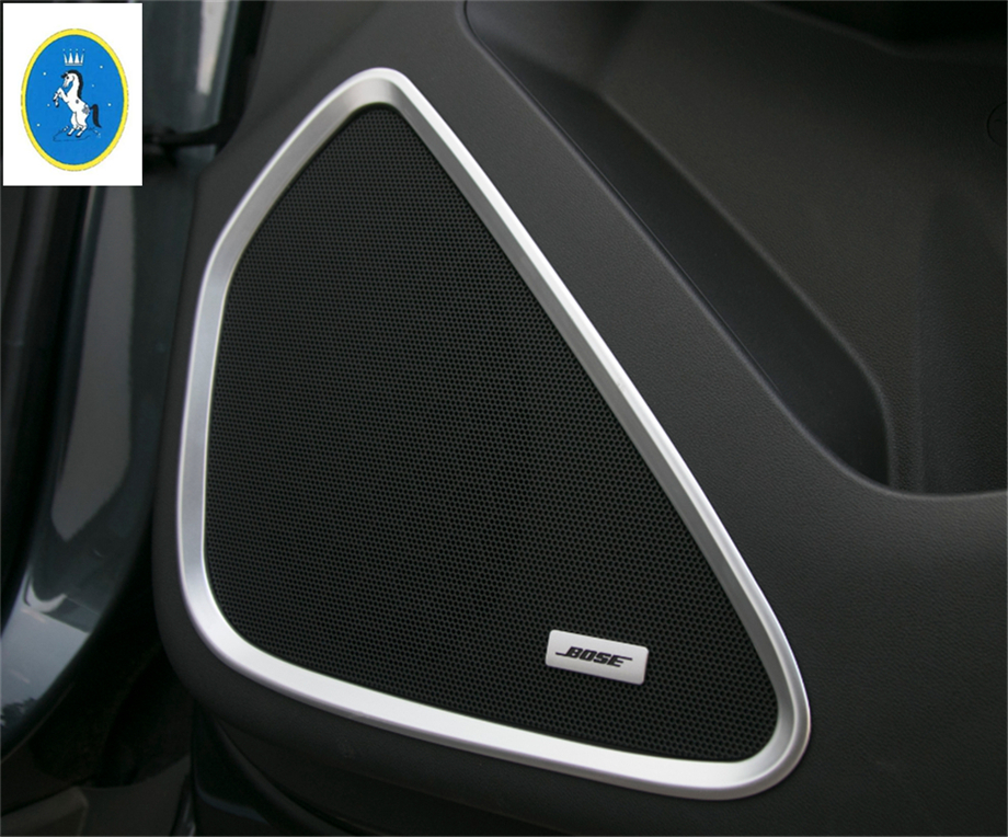 Auto Accessories ! For Chevrolet Equinox 2017 2018 ABS Inner Door Speaker Audio Loudspeaker Sound Frame Cover Trim 4 Pcs / Set
