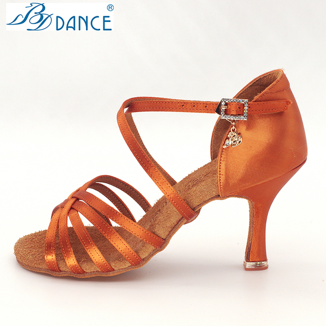 BDDANCE Latin Dance Shoes Authentic Lady Adult New High Heel Soft Bottom National Standard Practice Sandals Diamond bayonet 216