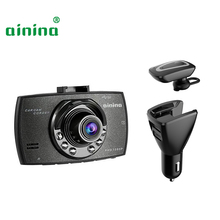 3 in 1 headsets car dash cam 1080p camera recorder with charger for mobile phone , Car dvr
