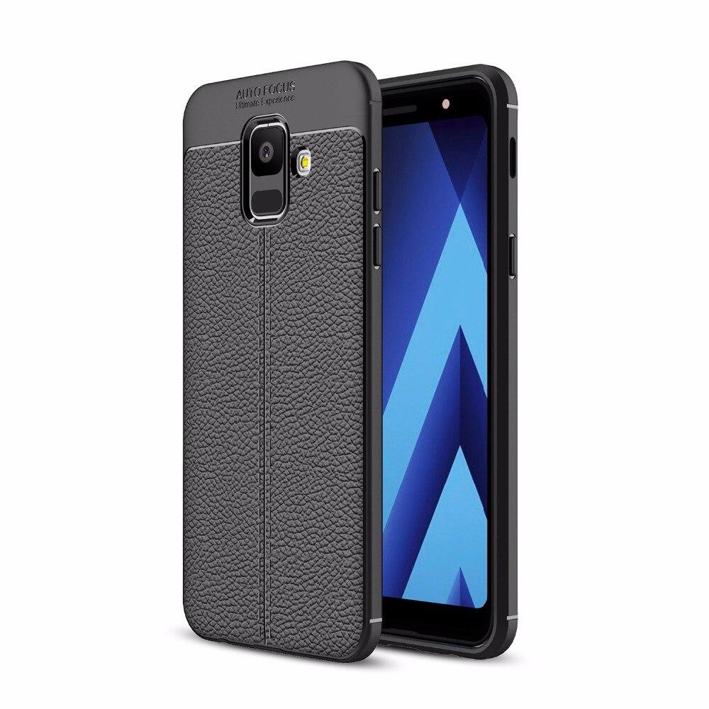Для samsung Galaxy A6 2018 A600 ультра тонкий кожаный чехол кожи Гибкая Резина TPU силикона Защитная Conque принципиально Случаи Обложка