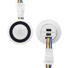 Temporizador ajustável 110v 220v, modo de ligamento/desligamento automático, sensor de movimento infravermelho pir interruptor de luz detector