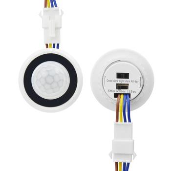 Z opóźnieniem czasowym regulowany 110 V-220 V bardzo czuły Auto ON OFF czujnik ruchu na podczerwień pir tryb przełączania czujnik świetlny przełącznik tanie i dobre opinie CHNAITEKE High Sensitivity Auto ON OFF Z tworzywa sztucznego ROHS Przełączniki 1 Year PIR Infrared Motion Sensor Switch