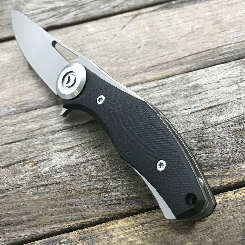 Image 5 - LDT Bear Dark Mini Folding Knife Steel G10 Handle D2 Blade knife Hunting Pocket Survival Tactical Outdoor Camping Knives Tool-in Knives from Tools