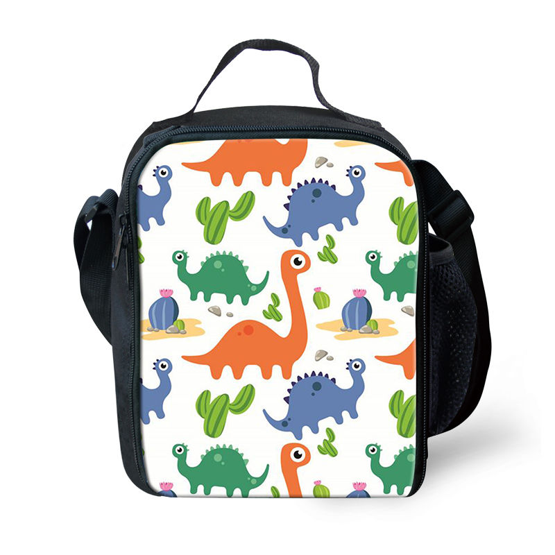 2b93efbef46d THIKIN Cartoon Dinosaurs Insulated Lunch Bag Keep Warm for Women School  Lunch Box for Children Cute 3D Animal Family Picnic Bags