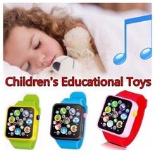 6 цветов, пластмассовые цифровые часы для малышей, Имитационные говорящие часы, Детские Игрушки для раннего образования, детские наручные часы, подарки на день рождения