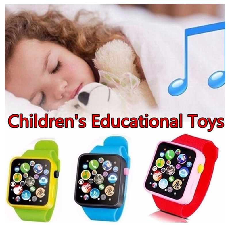 6 Color Toddler Kids Plastic Digital Watch Simulation talking Watch Kids Early Education Toy Wrist Watch Children Birthday Gifts image