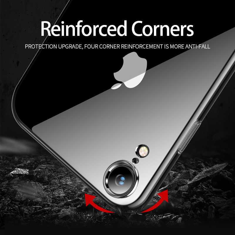 Ultra-delgada TPU transparente suave caso para iPhone 8 8 Plus 7 7 6 6S Plus de silicona transparente cubierta completa para iPhone X XS X MAX XR 5 5S SE