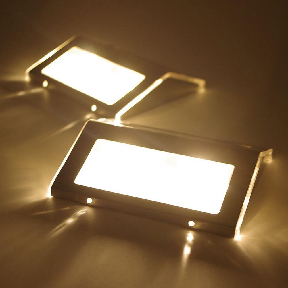 2pcs Solar Powered LED Wall Lamp Outdoor Garden Yard Lawn Lamp ...
