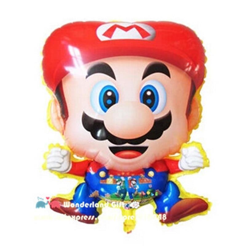 슈퍼 2pcs PVC 게임 히어로 큰 풍선, 아이 동생 클래식 장난감, 생일 파티 장식 아이 소년, ballon globos baloon