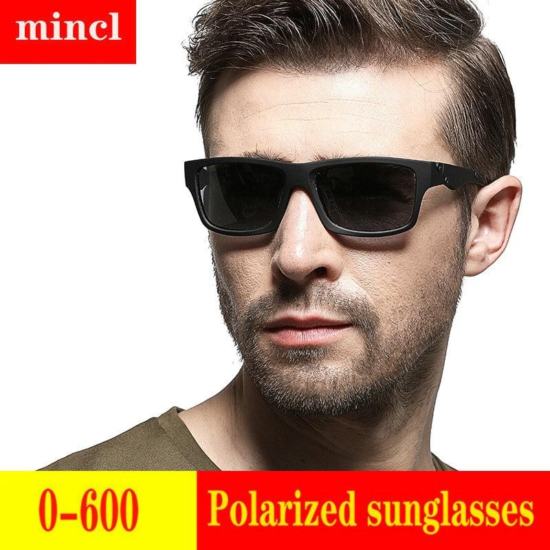 2019 Diopter men women Custom Made Myopia Minus Prescription Polarized LensRetro squar esunglasses men Driving goggles UV FML 22