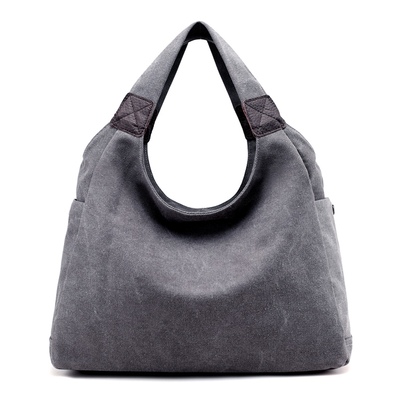 New Women Bag Canvas Handbags Shoulder Bags High Quality Ladies Tote Female Large Capacity Leisure Travel Beach Bag Bolsos Mujer high quality travel canvas women handbag casual large capacity hobos bag hot sell female totes bolsas ruched solid shoulder bag