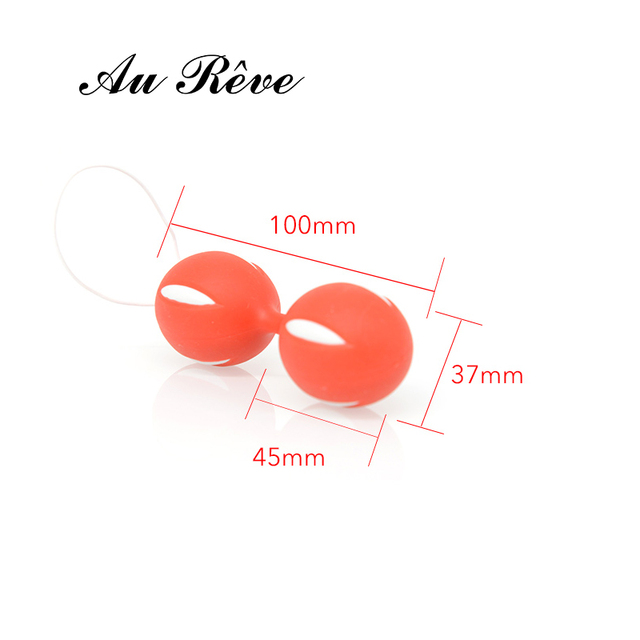 Smart Duotone Ben Wa Ball Weighted Kegel Vaginal Tight Exercise Vibrator+Silicone Butt Plug  Jewelry Sex Toys Free Shipping