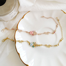 Japanese Sweet Cute Bowknot Garland Bracelet Simple Personality Student Girl Fashion Temperament Flower Jewelry Accessories