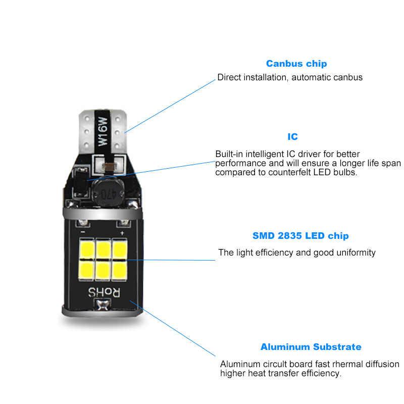 2 Pcs CANBUS Kesalahan Gratis T15 W16W Mobil LED Backup Reverse Lampu Putih untuk Hyundai IX35 Tucson IX20 Santa Fe matrix Veloster IX55