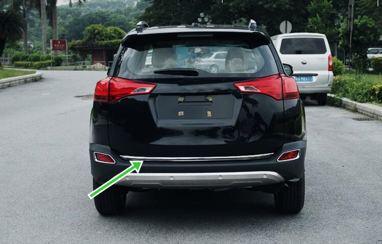 For Toyota RAV4 2013 2014 2015 Stainless Rear Trunk Lid Moulding Sill Cover Trim