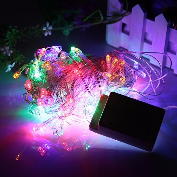 Christmas Light AC110V-220V 10M 100 LED Multi Color String Light For Christmas Holiday Festival Party Home Outdoor Decoration