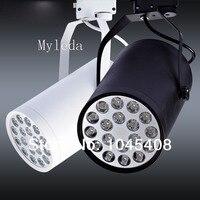 Led track 18 W  warm/Natuur wit  spaarlamp rail  winkel Spot lamp  Zwart-wit Spotlight 6 stks