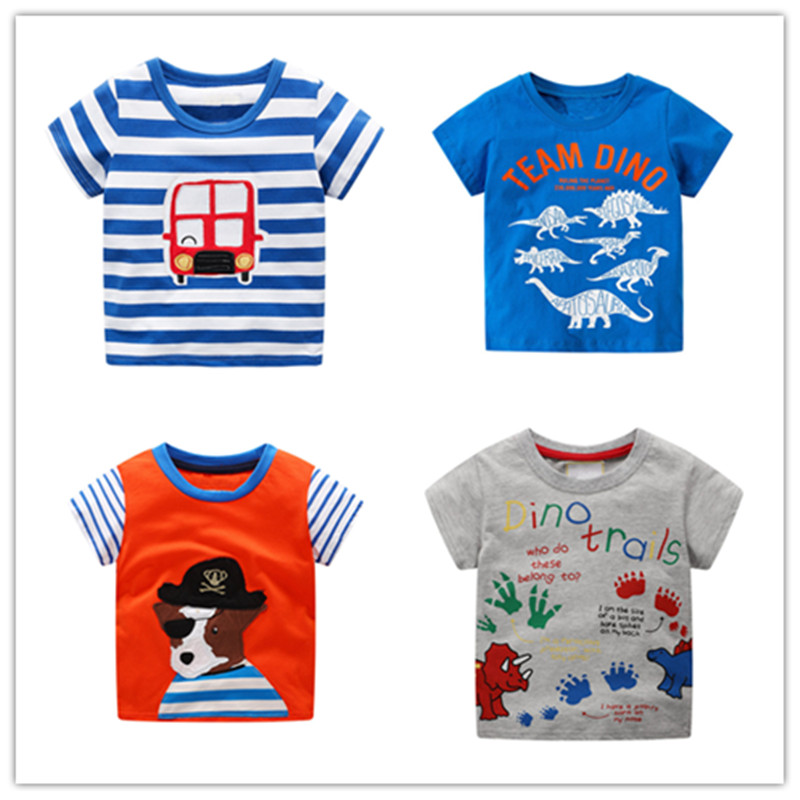 T-Shirts Short-Sleeve Tops Boys Baby-Boys Cotton Cartoon Child Summer And Tees Knitted