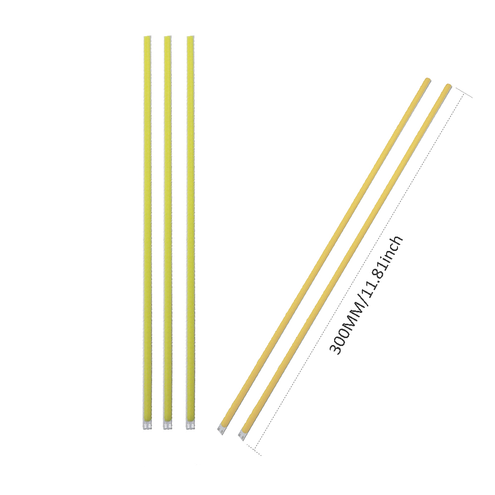 Original Dc12v 10w Super Thin New Flip Cob Led Strip Tube L400xw6mm Hard Bar Light Car Light Source For Diy Lighting Project 830ma 5pcs Light Bulbs