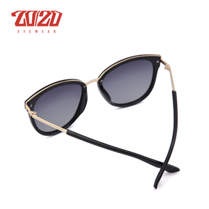 Image 5 - 20/20 Polarized sunglasses women Retro Style Metal Frame Sun Glasses Famous Lady Brand Designer Oculos Feminino 7051