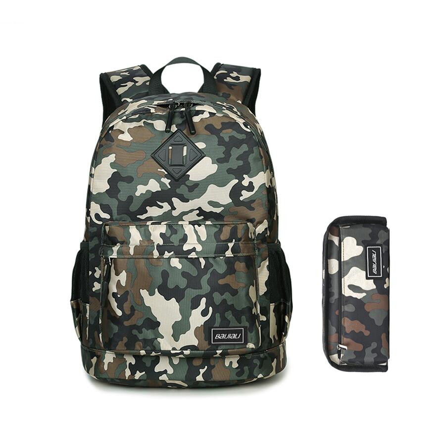 2pcs set kids army green camouflage backpack for boy student pen bag pencil case boys school bags bookbag backpacks for children 3 pcs school bags for boys high school backpack male small one shoulder bookbag boy blue pen pencil bag set travel bags