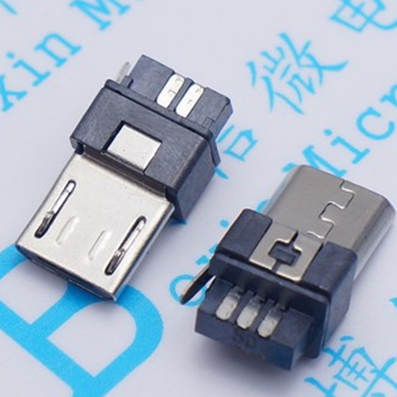 10pcs Micro USB 5pin Male Plug Connector Welding Type for Tail Charging Mobile Phone Сварка