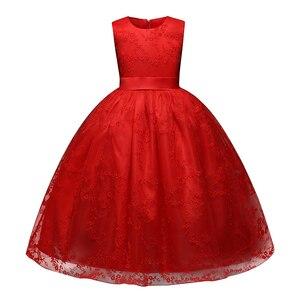 Image 4 - Petites filles נסיכה ורוד ילדה פרח שמלות כדור שמלת תחרה בנות תחרות שמלות ראשית הקודש שמלות