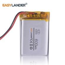 3,7 в 502535 500 мАч литий-ионный полимерный аккумулятор регистратор гистратор плеер Видео Регистратор