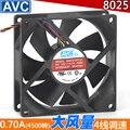 Free Delivery.8025/8CM/ cm fan 4 pin / Line Silent hydraulic bearing CPU fan case fan